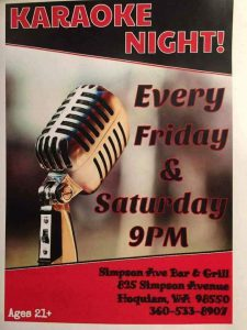 Karaoke Night Simpson Ave Bar And Grill